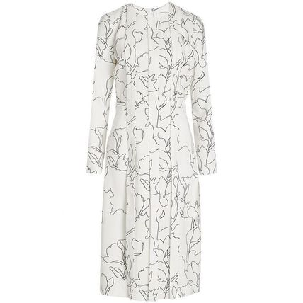 CARVEN ワンピース CARVEN(カルヴェン)★Pleated Dress with Print(5)