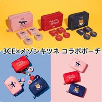 3 CONCEPT EYES(スリーコンセプトアイズ) メイクポーチ 【3CE】3CE MAISON KITSUNE POUCH #NAVY