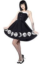 Sourpuss Moon Faces Spooksville Dress ベアトップ ワンピース