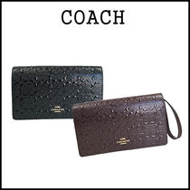 【即発★3-5日着】COACH★SIGNATURE FOLDOVER CLUTCH★F15620
