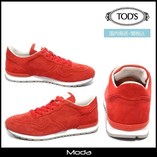 ★TOD'S★トッズ ロートップスニーカー レッド〈関税込〉