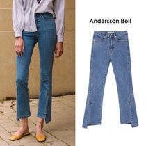 ANDERSSON BELL正規品★アンバランススリットクロップジーンズ