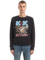 グッチ ACDC PRINT HOODED COTTON SWEATSHIRT