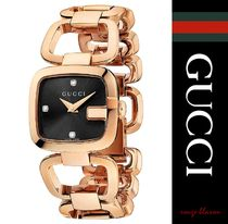 【国内発送】YA125512 G-Gucci Collection pink-gold PVD watch