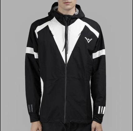 ADIDAS X WHITE MOUNTAINEERING BLACK AND WHITE WINDBREAKER