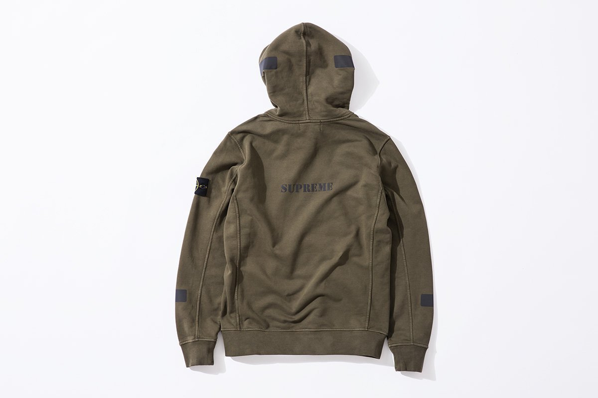 Supreme / Stone Island Hooded Sweatshirt