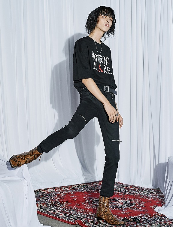 ANOTHERYOUTH★crop flare skinny クロップド スキニー/追跡付