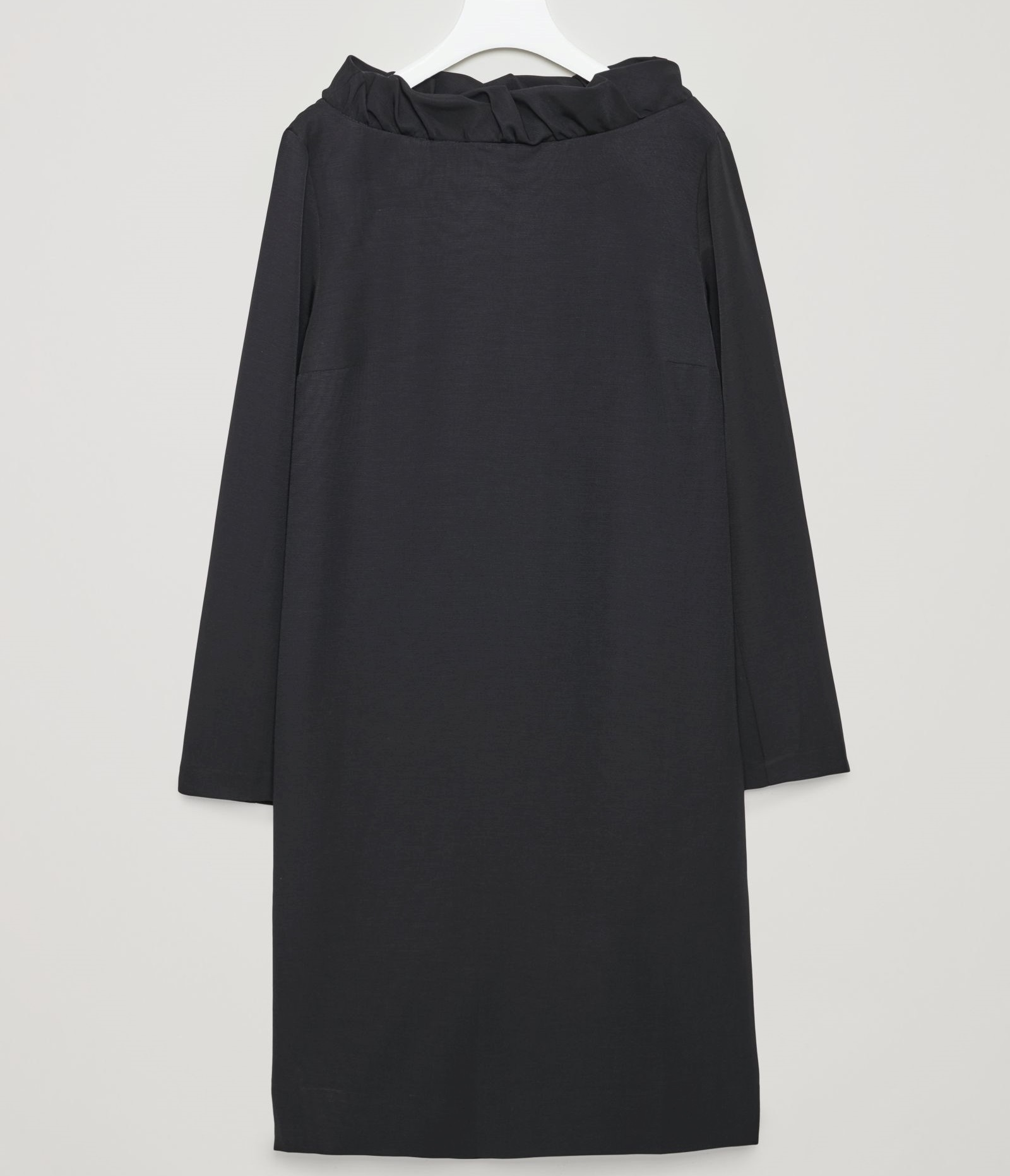 """COS""FRILL-NECK DRESS BLACK"