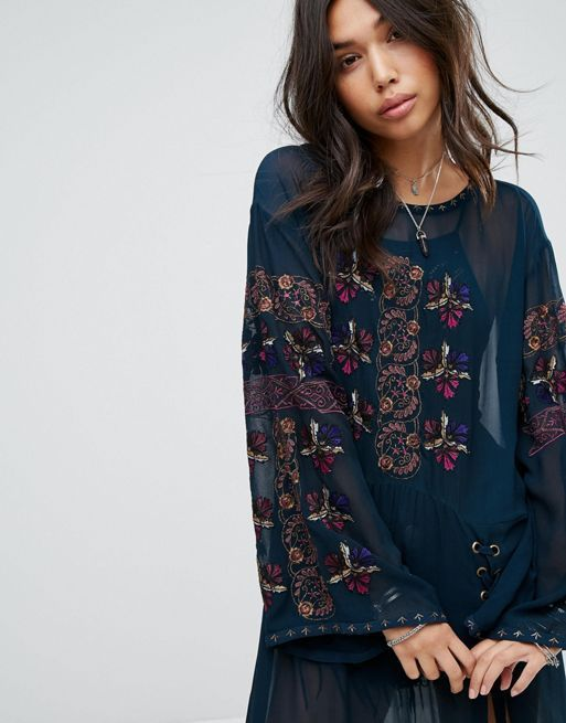 送料関税込 Free People Floral Layering Maxi Dress ワンピ