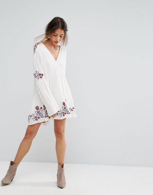 送料関税込 Free People Te Amo Embroidered Dress ワンピ