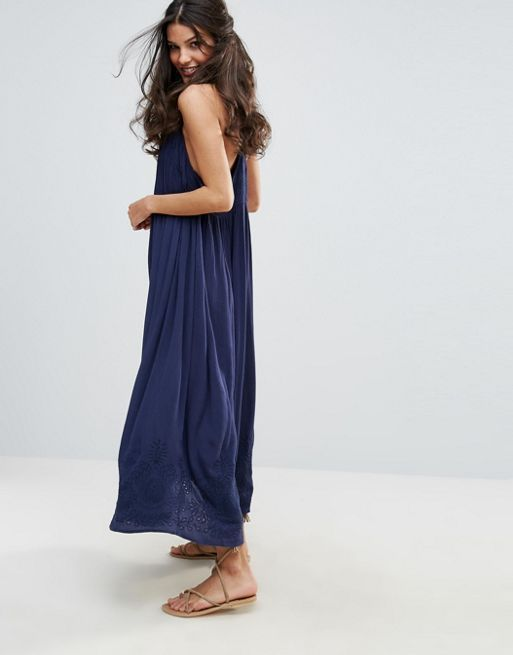 送料関税込 Free People Elaine Embroidered Maxi Dress ワンピ