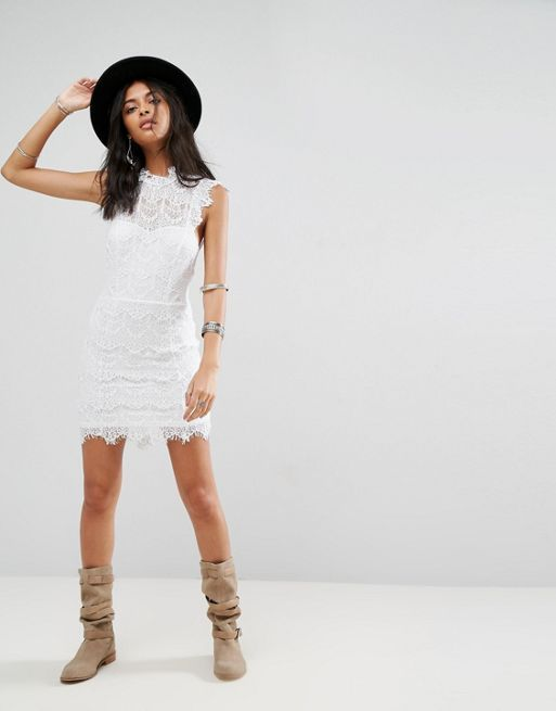 送料関税込 Free People Daydream Bodycon Lace Dress ワンピ
