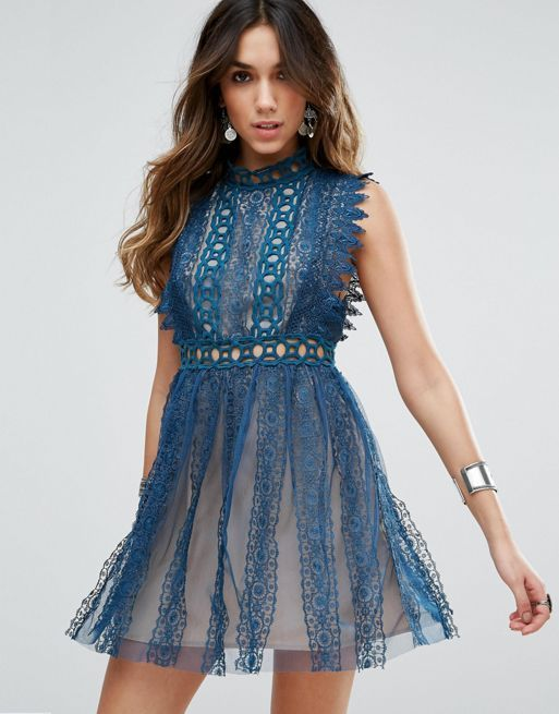 送料関税込 Free People Forever Lace Evening Dress ワンピ