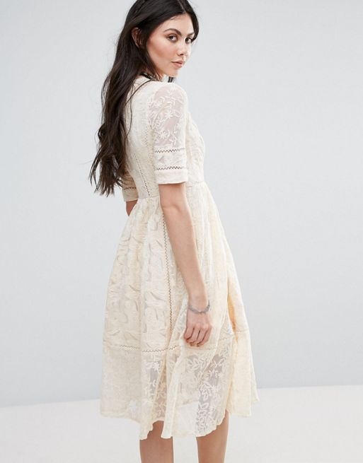 送料関税込 Free People Mountain Lauren Lace A Line Mi ワンピ