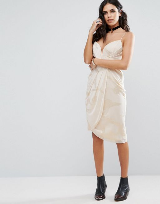 送料関税込 Free People Wrap Evening Dress ワンピ