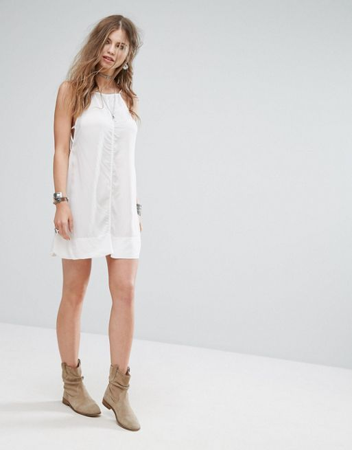 送料関税込 Free People Side By Side Slip Dress ワンピ