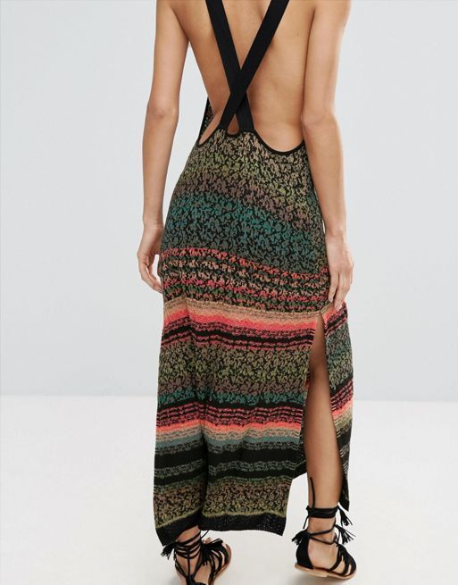 送料関税込 Free People Midnight Side Slit Maxi Dress ワンピ