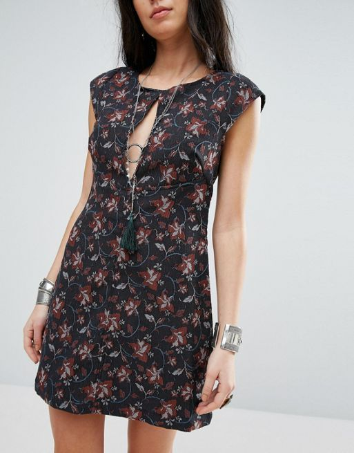 送料関税込 Free People Say Yes Printed Mini Dress ワンピ