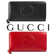 ◆GUCCI◆定番ソーホー♪Soho red leather zip around wallet