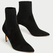 ●ZARA●秋新作♪COMBINED HIGH HEEL SOCK-STYLE ANKLE BOOTS