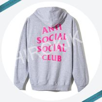 Anti Social Social Club Zip Up Hoodie ジップ ASSC 灰 ピンク