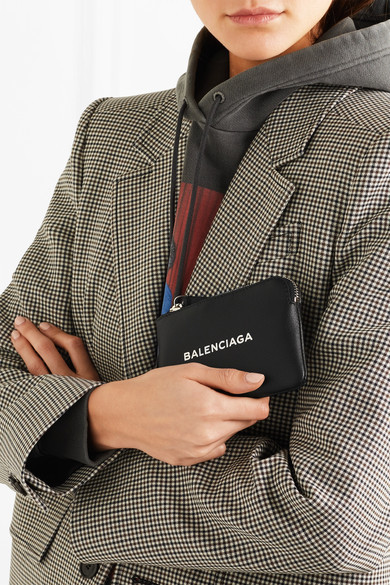 ★関税負担★BALENCIAGA★PRINTED TEXTURED-LEATHER POUCH