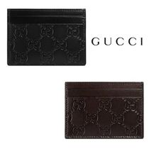 ◆GUCCI◆男女兼用♪プレゼントに◎Signature leather card case