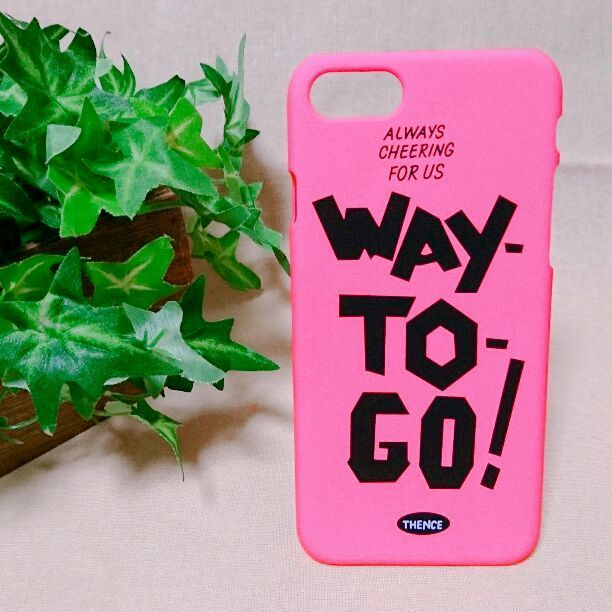 iPhone7 「WAY  TO  GO!」 ピンク ユニーク 個性的