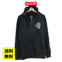 SALE★ANTISOCIAL CLUB Masochism Zip Up Hoodie/BLACK/S-XL