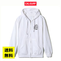 SALE★S−XL ANTISOCIAL CLUB Masochism Zip Up Hoodie/WHITE