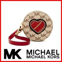 SALE★MICHAEL KORS Leather Heart Small コインケース★送料込