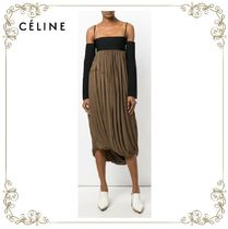 【17AW】大人気★CELINE★contrast skirt dress