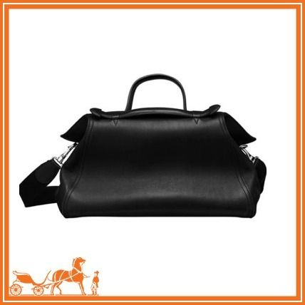 17-18AW HERMES Oxer ボストンバッグ カーフスキン 黒
