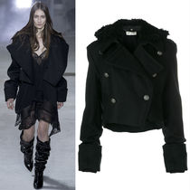 17-18AW WSL1114 LOOK27 MILITARY JACKET WITH GATHERED SLEEVE