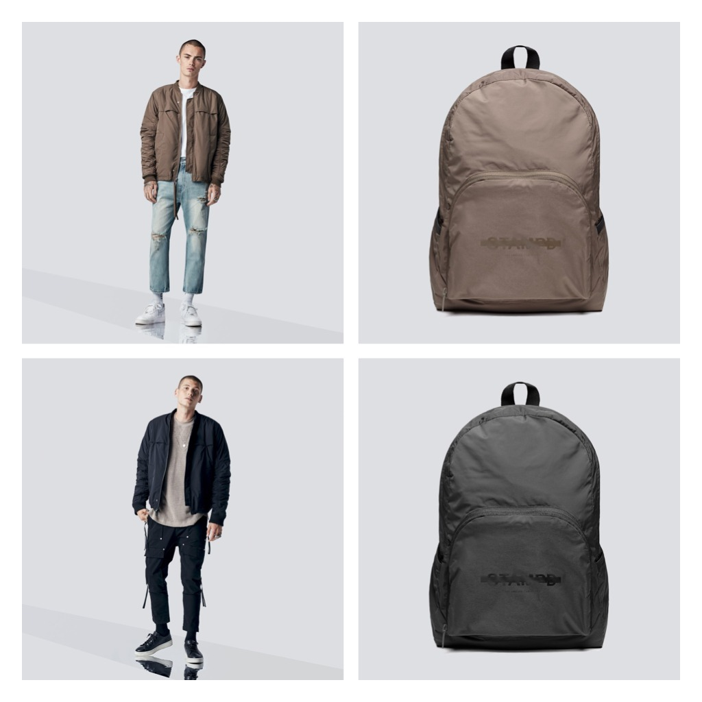 bag&コートのセット!!STAMPD HESTON BOMBER & PACKABLE BACKPACK