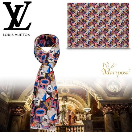 17AW【新作】ルイヴィトン☆ALLOVER LV LEAGUE STOLE☆ストール