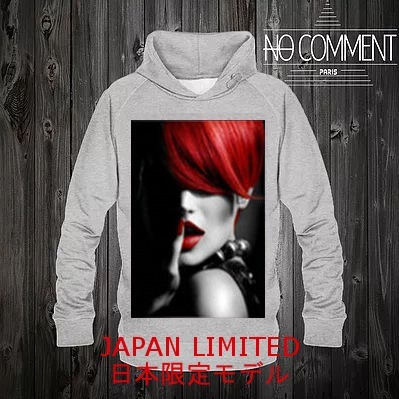 JAPAN LIMITED ★NO COMMENT PARIS★ パーカー Red hair 送関込