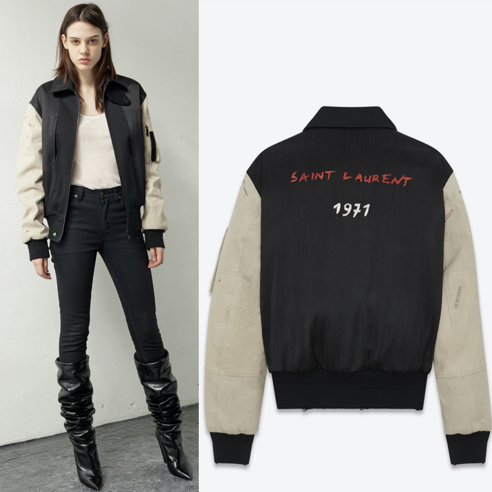 17-18AW WSL1127 EMBROIDERED BOMBER JACKET