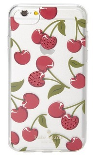 【ケイトスペード】 Jeweled Cherries 柄 iPhone Case 7 & 8