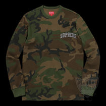FW17 SUPREME ARC LOGO L/S THERMAL WOODLAND CAMO S-XL送料無料