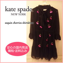 【国内発送】SEQUIN CHERRIES SHIRTDRESS セール