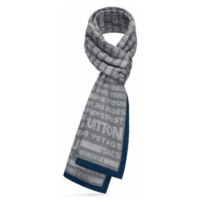 17AW【新作】ルイヴィトン☆BOLD STAMPS SCARF☆スカーフ*2色*