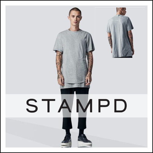 Stampd' LA  SIGNATURE DOUBLE LAYER LS TEE 長袖 ロゴTシャツ