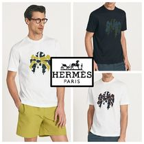 2017AW【HERMES】ロボットプリントTシャツ*コットン100% 3color