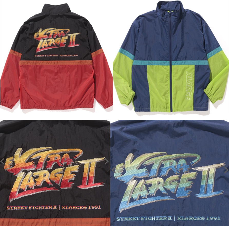 XLARGE×STREET FIGHTER2 PULLOVER HOODED SWEAT