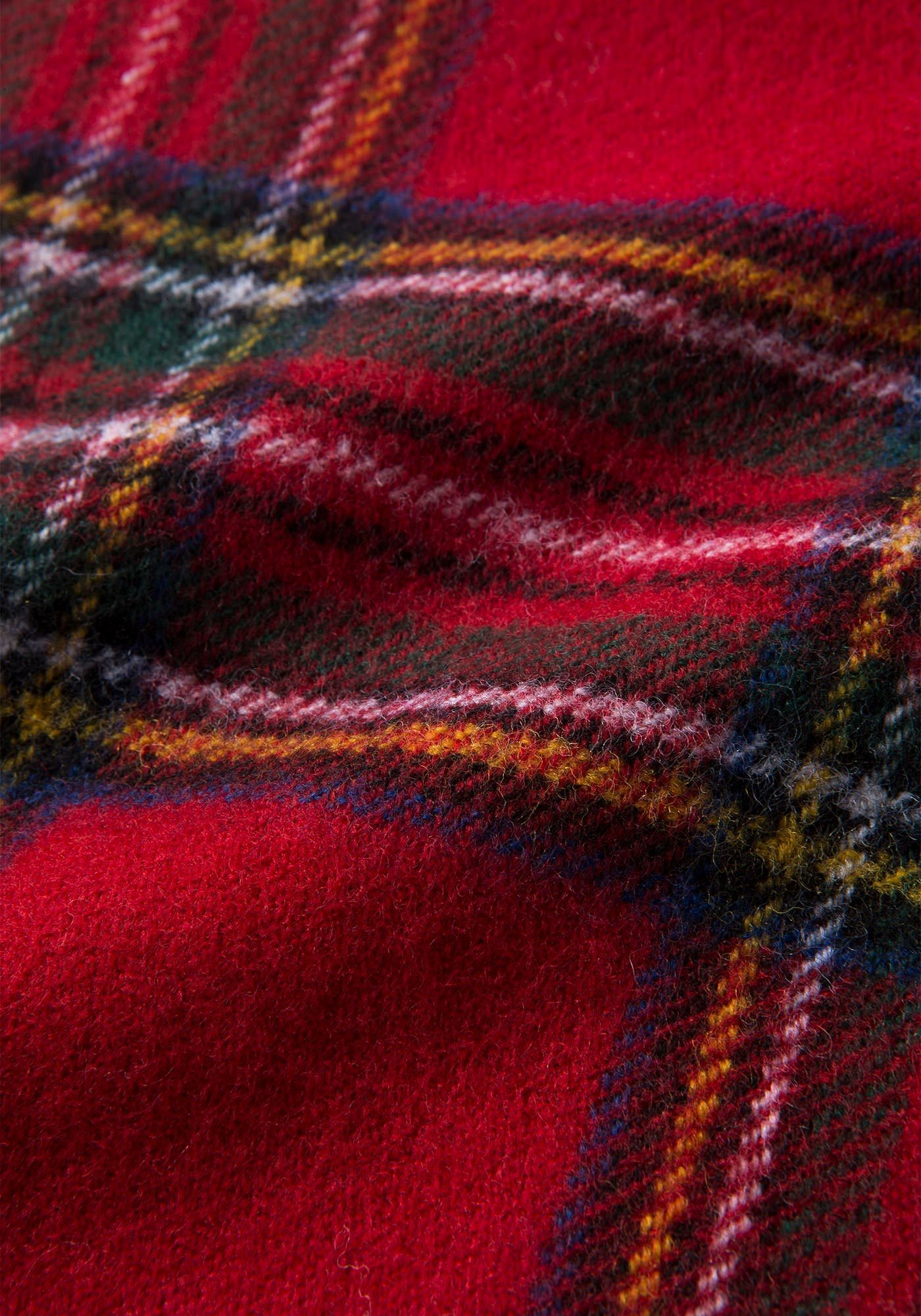 フレッドペリー C2114 943 ROYAL STEWART TARTAN SCARF RED