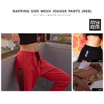 NASTY PALM(ネスティパム) パンツ 新作★NASTY PALM★NAPPING SIDE MESH JOGGER PANTS(RED