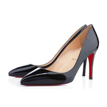 Christian Louboutin パンプス 国内発 CHRISTIAN LOUBOUTIN Pigalle 85 パテント ブラック