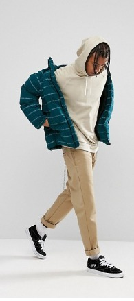 ASOS Pufferジャケット with Print in Green