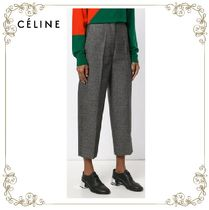 【17AW】大人気★CELINE★cropped high waisted trousers